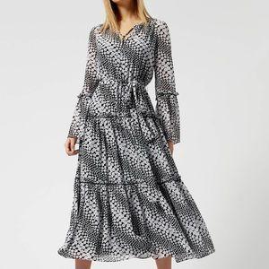Michael Kors tiered boho midi dress size S